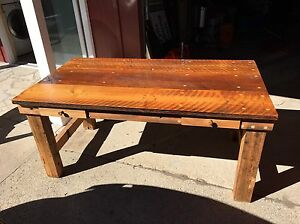 Rustic custom built barn board table