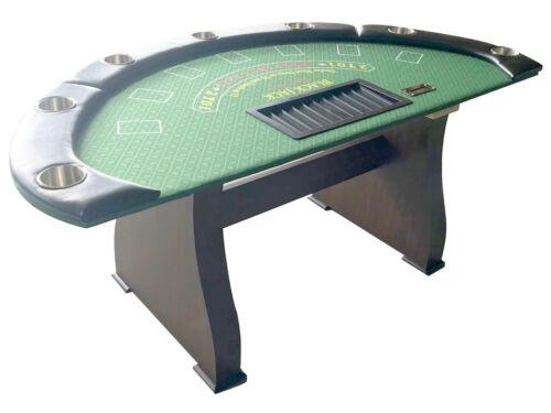 "72""  Blackjack table, wood legs, replaceable arm rest & felt, 3/4"" main board db"