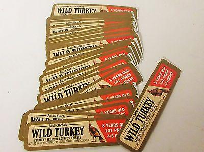 100 Vintage Wild Turkey Whiskey Decanter Labels