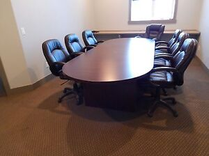 Conference table and 10 chairs