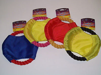 Rope Ring Tug - Dog Rope Flying Disk Ring Tug Chewing Fetching Training Toy in Assorted Colors