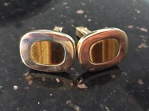 Mens's Balmain cufflinks - yellow gold plated Victoria Park Victoria Park Area Preview
