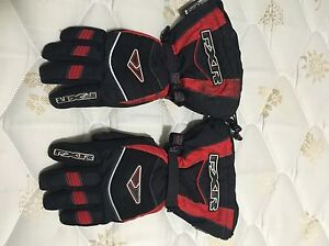 Red FXR Snowmobile Gloves