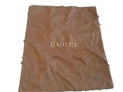 Gucci Dust Cover Storage Bag Drawstring Dust Bag, Brown 13 X 15.25 VTG