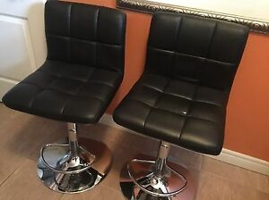 Leather bar stool chairs