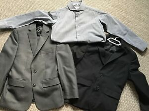 Boys size 8 suits and dress shirt