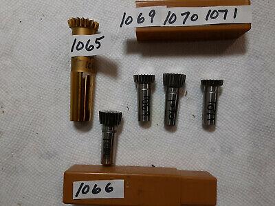 5 Pcs Lot Fellowsspline Shaper Cutter Shank Type Gear Cutter Photos Box Lll