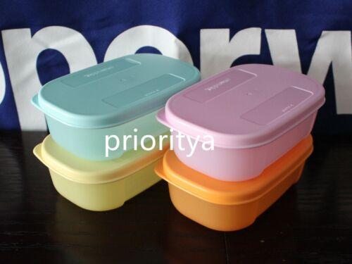 Tupperware Mini Freezer Mates 140mL Multi Container w/ Matching Seal Set 4 New