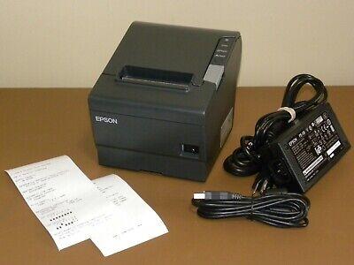 Epson Tm-t88v M244a Usb Thermal Pos Receipt Printer W Power Supply