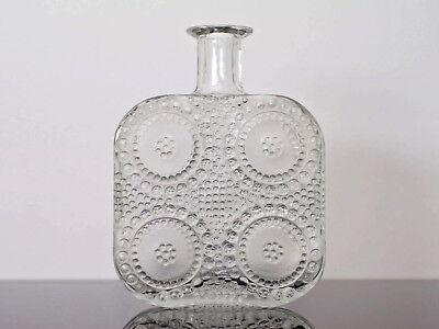 Riihimäen Lasi Oy Vintage Grapponia Bottle Vase Nanny Still 60er 60s Finnland