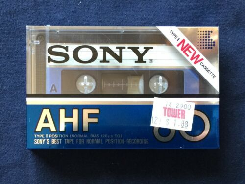SONY AHF 60 Cassette Tape Vintage (FACTORY SEALED)