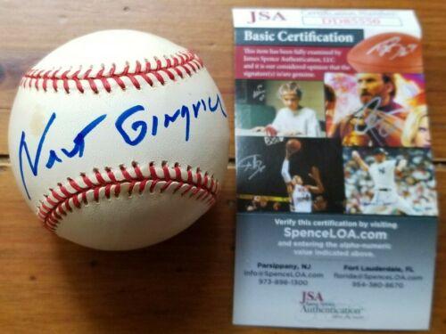 Newt Gingrich signed baseball Speaker of the House JSA coa