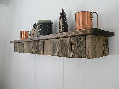 - Reclaimed Rustic Wood Floating Fireplace Shelf Mantel Mantle Beam Custom Sizes