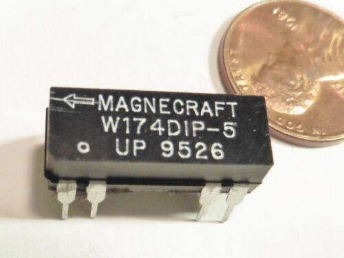 Lot of 2 Magnecraft DIP Reed Relays W174DIP-5 NEW