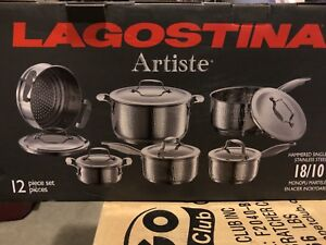 Brand New Lagostina Artiste 12 Piece Pot Set
