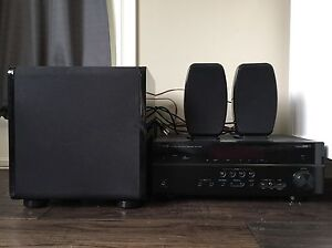 Yamaha Receiver, Panadigm Sub and 2 Speakers