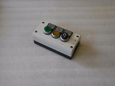 Klockner Moeller  Plastic 3 Push Button Enclosure,w/Buttons,  Used, Warranty