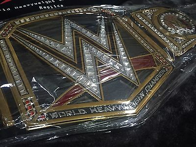 WWE WORLD HEAVYWEIGHT CHAMPIONSHIP WRESTLING BELT ADULT SIZE BIG LOGO WWF TITLE