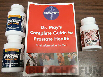 New Prosvent Ultra Natural Prostate Health Supplement  2 Bottles   Ultimax Bonus