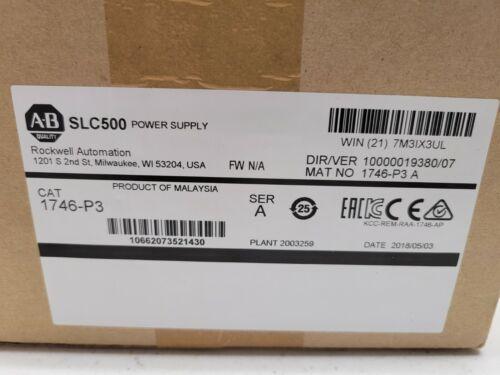 New Allen Bradley 1746-P3 Series A SLC 500 Rack Mount Power Supply 24V DC 3.6A