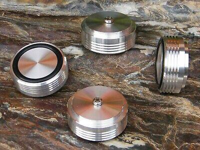 ♫ 4 Soportes Aluminio Ø 39MM Amplificador Preamplificador Platino K7 ♫