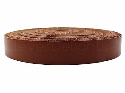 "5 Yards - 1"" Genuine Leather Strapping - Brown - 5-6oz - Strap Strip Bulk 25mm"