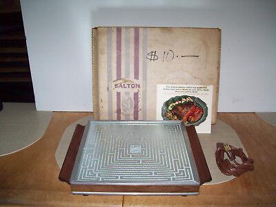 Vintage SALTON Hotray Food Warming Heating Tray Model H-116 W VGUC TESTED WORKS