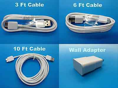 Samsung Galaxy Note 3 III S5 USB 3.0 Data Charger Cord CABLE 3FT 6FT Long 10FT