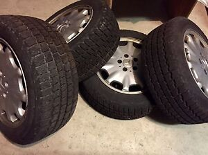 "BRAND NEW WINTER TIRES ON MERCEDES RIMS - COOPER 16"" - MINT !!"