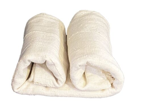 "African Plain White Mud Cloth /Bogolan Textile Mali 41"" by 64"""