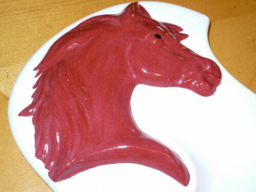 Large Vintage Horse Head Ceramic Ashtray tray catch all dish