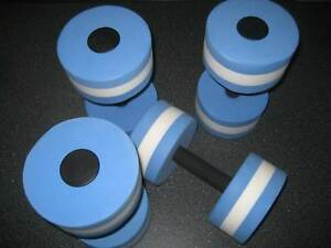 Dumbells, For water training, x 4 Ex Condition