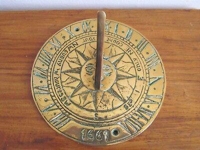 VINTAGE BRASS GARDEN SUNDIAL 1661