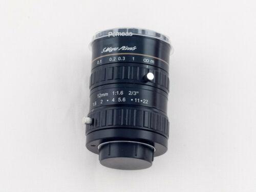 """Pomeas PMS-1216M 12mm 1:1.6 2/3"""" CCD CCTV C-Mount Lens"""