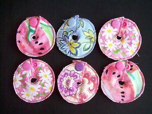6 Button Buddies - GIRLS - Mickey, G Tube, J Peg Feeding Tube Button Covers Pads