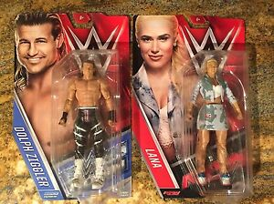 WWE / WWF Dolph Ziggler and Lana Action Figures