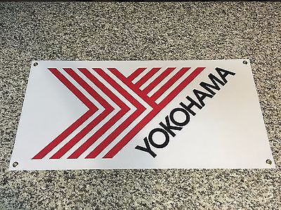 YOKOHAMA TIRES banner sign shop garage racing Advan JDM street off road track