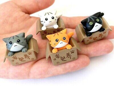 9-Complete Set 9 CAT FIGURINE TOY No Box