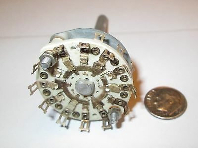 Ceramic Rotary Switch Shorting  5 Pole - 3 Positions Centralab  Nos 1 Pcs.