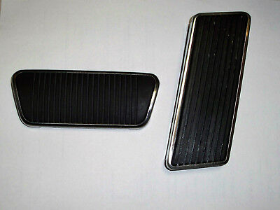65-68 FORD Mustang Accelerator, Brake Pedal Kit with SS Trim, spring, screw