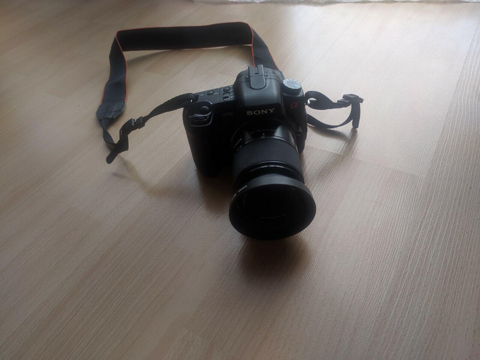 Sony Alpha 350 DSLR-A350K Digitale Spiegelreflexkamera , 2 Objektive