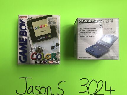 Nintendo Gameboy Color Gba SP Boxed