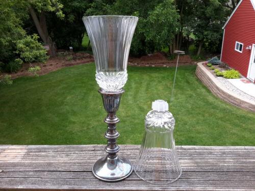 2 HOMCO 1195 Renaissance PEG Votive Cup Candle Holders Royal Crystal Rock Aurea