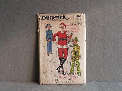 SIZE 42 MENS COSTUME PATTERN 1960s CUT BUTTERICK 5103 SANTA CLAUS