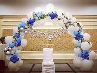 Letter table and BALLOON DECOR
