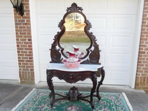 DECORATIVE VICTORIAN ROCOCO PRUDENT MALLARD  DRESSING TABLE, aka Duchesse !