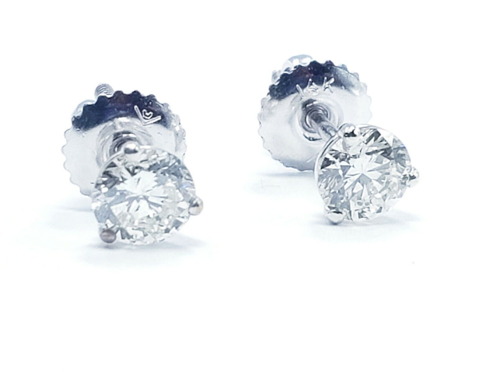 1.88ctw Round Brilliant Natural Diamond Studs Earrings GIA Appraisal F Color I1