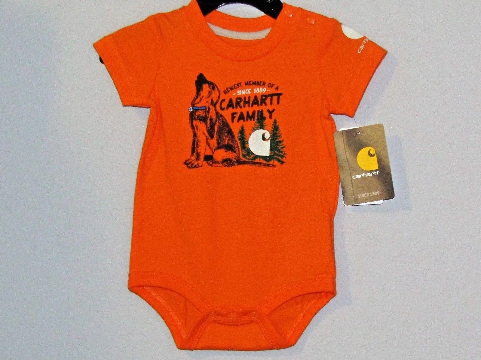 Carhartt infant boys orange 1pc w/snap closers Newest Member