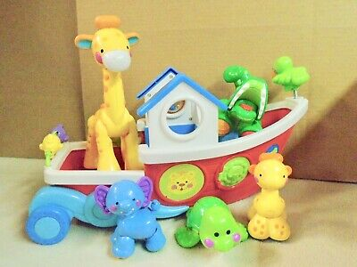 FISHER  PRICE  AMAZING  ANIMAL  ARK  BOAT WITH  ANIMALS