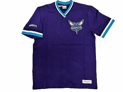 Mitchell   Ness Charlotte Hornets Team Colors Overtime Win Vintage T Shirt